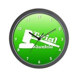 Trial Junkie (green) Wall Clock