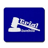 Trial Junkie (blue) Mousepad