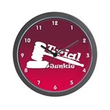 Trial Junkie (red) Wall Clock