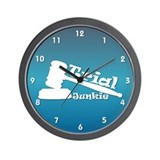 Trial Junkie (blue) Wall Clock