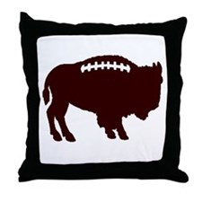 Buffalo Football Throw Pillow