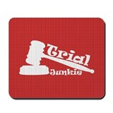 Trial Junkie (red) Mousepad