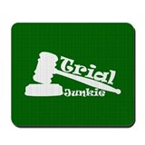 Trial Junkie (green) Mousepad