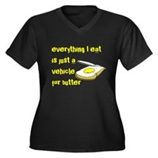 Everything I eat is a vehicle Women's Plus Size V-