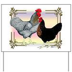 Black SL Chickens Yard Sign