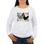 Black SL Chickens Women's Long Sleeve T-Shirt