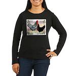 Black SL Chickens Women's Long Sleeve Dark T-Shirt