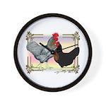 Black SL Chickens Wall Clock