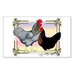 Black SL Chickens Rectangle Sticker 50 pk)