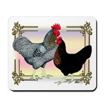 Black SL Chickens Mousepad