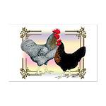 Black SL Chickens Mini Poster Print