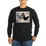 Black SL Chickens Long Sleeve Dark T-Shirt