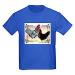 Black SL Chickens Kids Dark T-Shirt