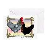 Black SL Chickens Greeting Card