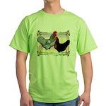 Black SL Chickens Green T-Shirt