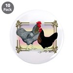 "Black SL Chickens 3.5"" Button (10 pack)"