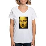 Mona Lisa Detail Women's V-Neck T-Shirt