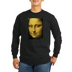 Mona Lisa Detail Long Sleeve Dark T-Shirt