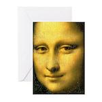 Mona Lisa Detail Greeting Cards (Pk of 10)