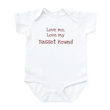 Love my Basset Hound Infant Bodysuit