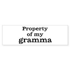 Property of gramma Bumper Sticker