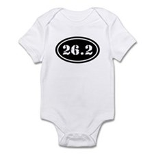 26.2 Oval Marathon Runner Infant Bodysuit