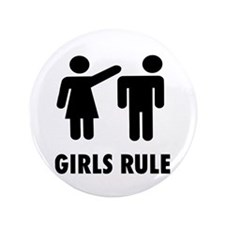 "Girls Rule 3.5"" Button (100 pack)"