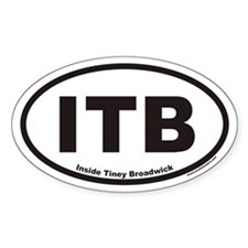 Inside Tiney Broadwick ITB Euro Oval Decal