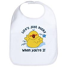 Life's Ducky 2nd Birthday Bib