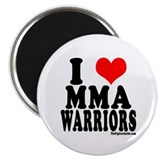 "I Love MMA Warriors 2.25"" Magnet (100 pack)"