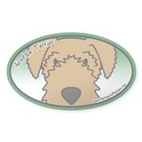 Anime Airedale Terrier Oval Decal