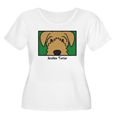 Anime Airedale Women's Plus Size Tee Shirt
