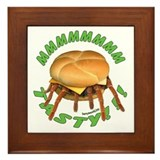 Spider Burger Framed Tile