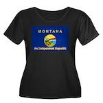 Montana-4 Women's Plus Size Scoop Neck Dark T-Shir