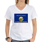 Montana-4 Women's V-Neck T-Shirt