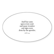 ACTS 2:43 Oval Decal