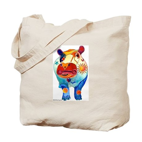 Love A Hippo Tote Bag