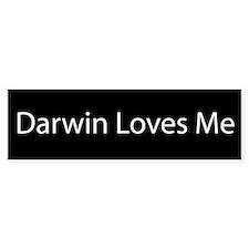 Darwin Loves Me Bumper Bumper Sticker