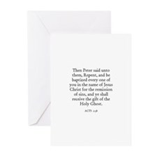 ACTS  2:38 Greeting Cards (Pk of 10)