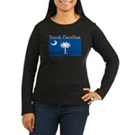 South Carolina State Flag Women's Long Sleeve Dark
