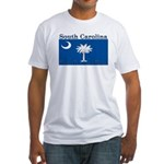 South Carolina State Flag Fitted T-Shirt