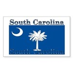 South Carolina State Flag Rectangle Sticker