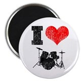 "I Heart Drums 2.25"" Magnet (10 pack)"