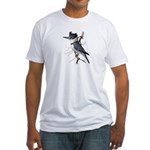Fuertes' Kingfisher Fitted T-Shirt