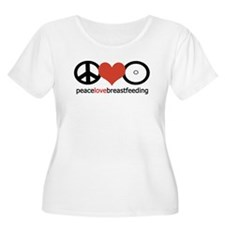 Peace, Love & Breastfeeding T-Shirt