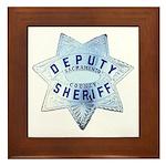 Sacramento Deputy Sheriff Framed Tile