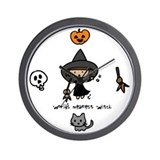 """World's meanest witch"" Wall Clock"