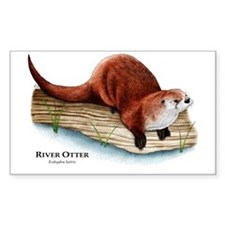 Northern River Otter Rectangle Decal