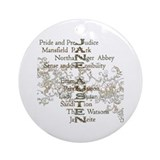 Jane Austen Books 5 Ornament (Round)