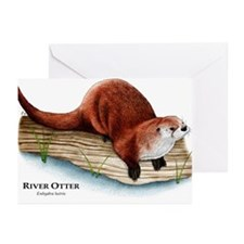 Northern River Otter Greeting Cards (Pk of 20)